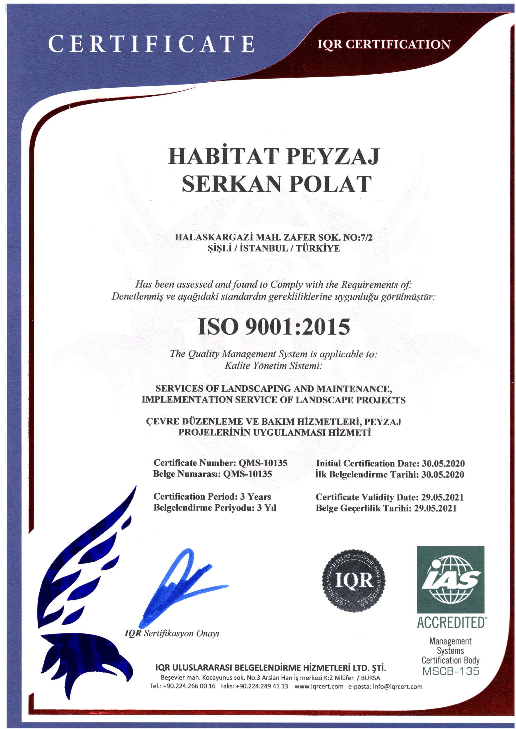 HABİTAT ISO 9001-1